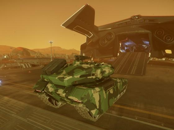 Der Panzer muss auch noch rein